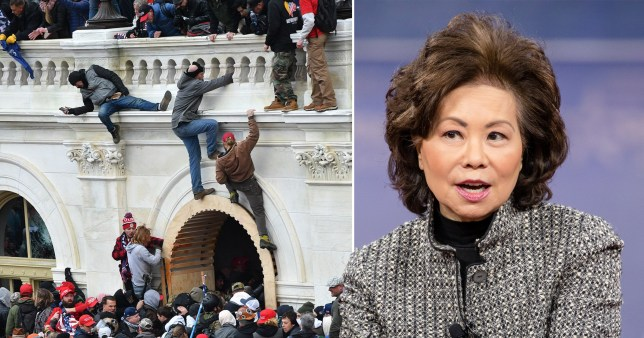 Transportation Secretary Elaine Chao, who has announced her resignation from Donald Trump's cabinet after violent riots on Capitol Hill