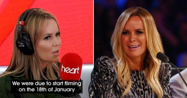 Amanda Holden on Heart Radio and on Britain's Got Talent