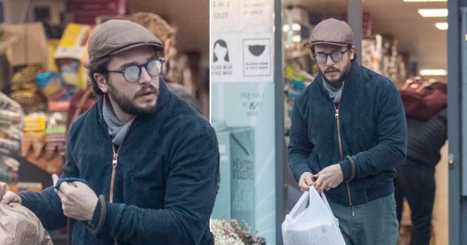 Kit Harington's glasses steam up as he exits shop