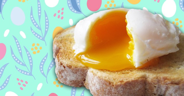 runny eggs on toast