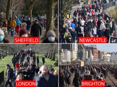 Brits flock to parks in winter sun after PM begged people to stay in