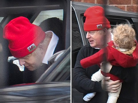 Boris Johnson takes mini-me son Wilfred for stroll in his buggy