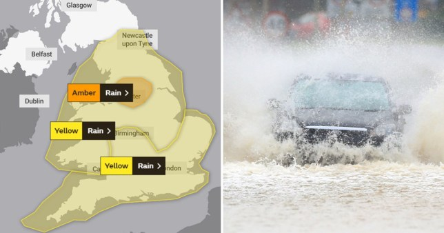 Two months of rain in a day coming as risk to life warning issued
