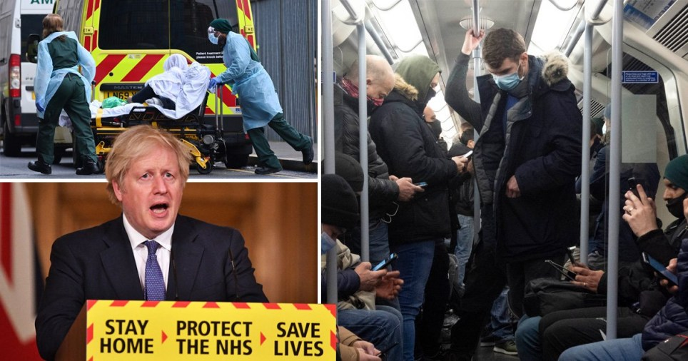 Boris Johnson has urged Londoners to stay home as hospital admissions reach a record high.