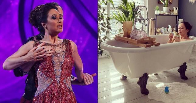 Myleene Klass in the bath