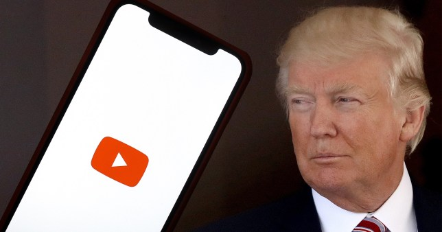YouTube has said its ban on Donald Trump content is being extended 'indefinitely'
