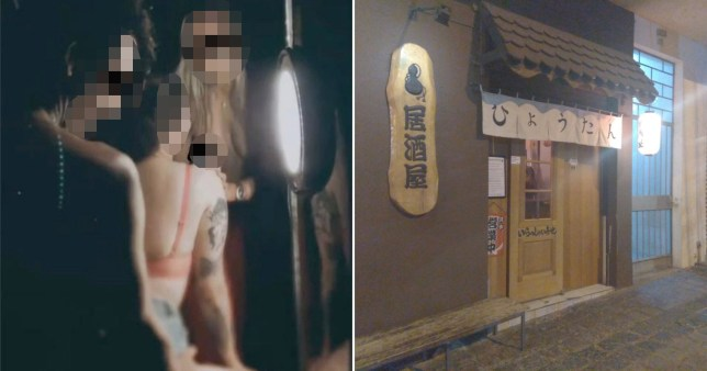 Staff allegedly had sex on the tables where customers had earlier eaten.