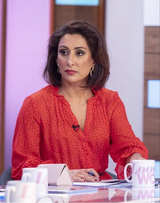 Editorial use only Mandatory Credit: Photo by Ken McKay/ITV/REX/Shutterstock (10519066ce) Saira Khan 'Loose Women' TV show, London, UK - 06 Jan 2020
