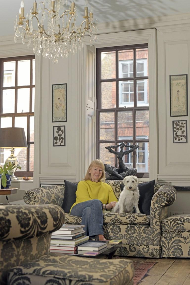 Entrepreneur Karen Hanton photographed at her period home in Spitalfields, East London.