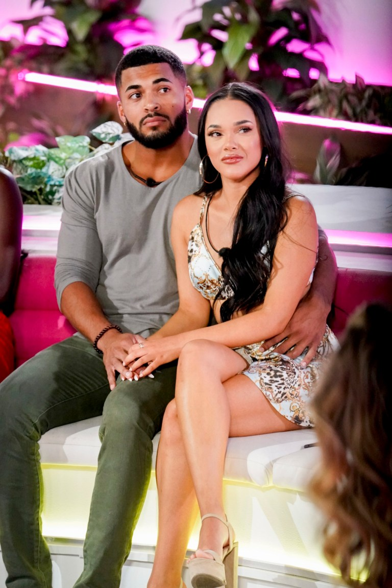Love Island USA couple Johnny Middlebrooks and Cely Vazquez