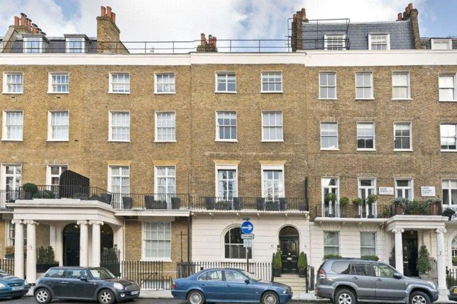 flat in the townhouse formerly owned by Sir Sean Connery is up for sale