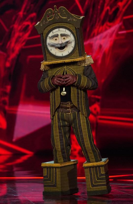 Glenn Hoddle as Grandfather Clock on The Masked Singer