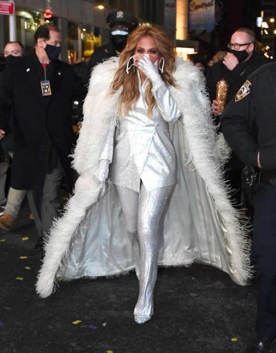 Jennifer Lopez in Times Square ahead of NYE performance
