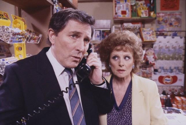 Mark Eden with Barbara Knox on Coronation Street