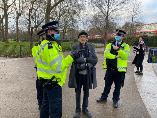 Jeremy Corbyn's brother arrested at anti-lockdown protest in London