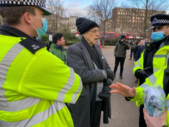 Jeremy Corbyn's brother Piers arrested at anti-lockdown protest