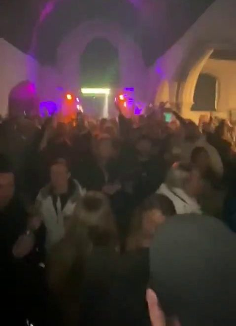 Illegal NYE rave at All Saints Church, East Horndon, Essex