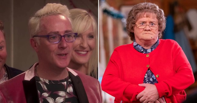 Damien McKiernan as Rory Brown on Mrs Brown's Boys with Brendan O'Carroll