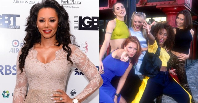 Mel B and the Spice Girls