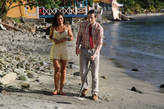Josephine Jobert and Ralf Little in Death in Paradise