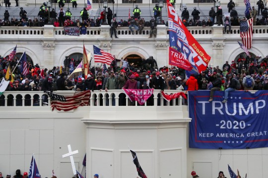 Supporters of U.S. President Donald Trump gather in front of the U.S. Capitol Building in Washington, U.S., January 6, 2021. REUTERS/Leah Millis