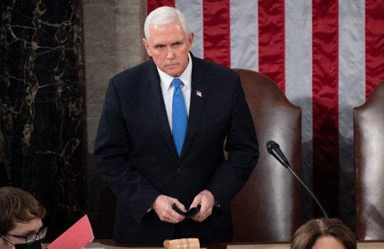 US Vice President Mike Pence presides over a joint session of Congress