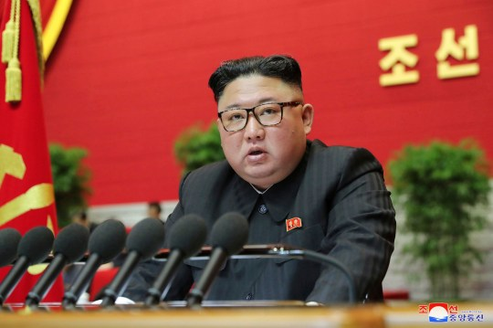 North Korean leader Kim Jong Un speaks at the ruling party congress in Pyongyang. North Korea has threatened to build more nuclear weapons unless the US abandons its 'hostile policy'.