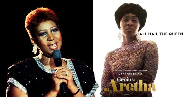 Aretha Franklin and Cynthia Erivo