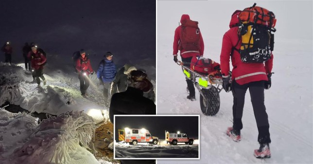 Four people rescued from Derbyshire mountains after getting too exhausted.