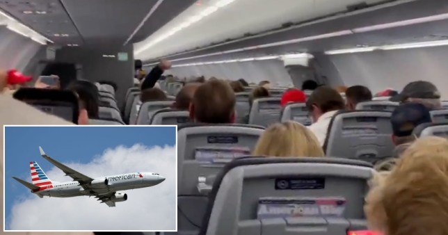 Pilot threatens to divert plane full of chanting Trump supporters.