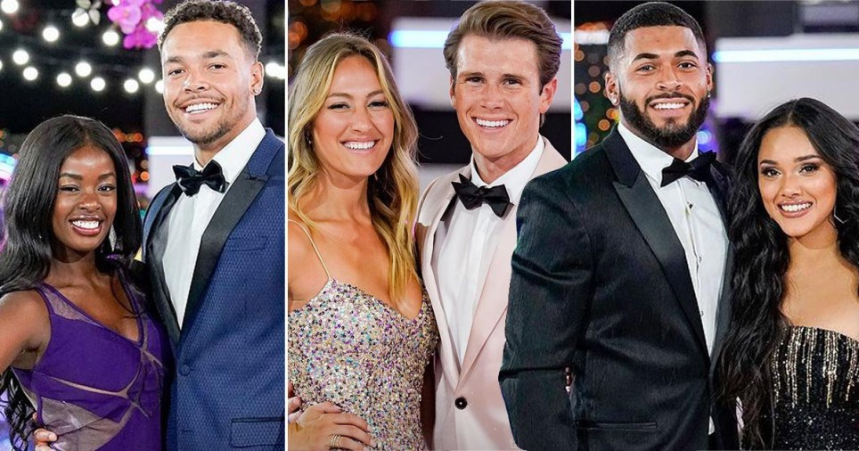 Love Island USA season final three couples