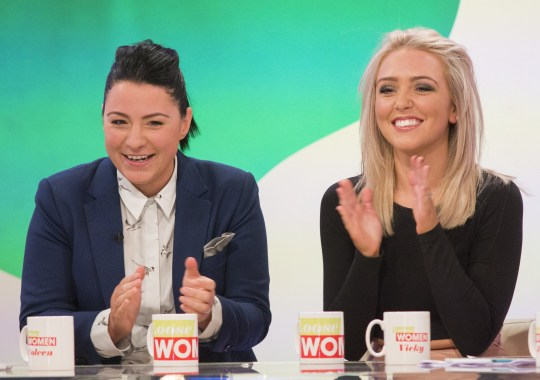 Editorial use only Mandatory Credit: Photo by S Meddle/ITV/REX (5768414dj) Lucy Spraggan and Georgina Gordon 'Loose Women' TV show, London, UK - 13 Jul 2016