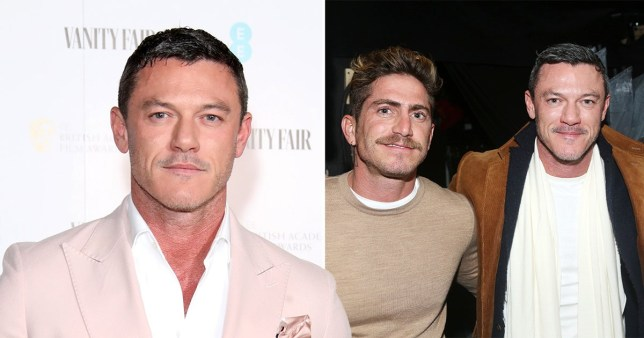 Luke Evans pictured on red carpet at Vanity Fair event and with ex Raphael Olarra