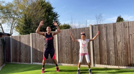 Fitin5 with Marvin Ambrosius and his daughter