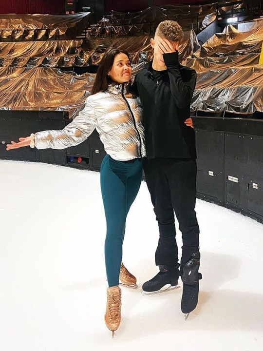 Dancing on Ice 2021: Joe-Warren Plant battles knee injury during rehearsals: 'I was off for four days' ITV|Instagram