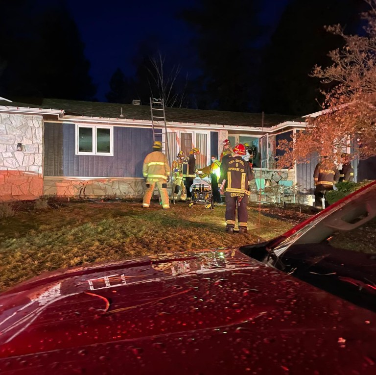 Woman pinned to bed by tree that fell through ceiling in storm - South Hill, Spokane
