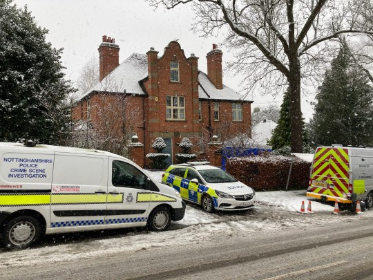 15/01/2021: Police are this morning (FRI) continuing to hold a man after a leading plastic surgeon was left fighting for his life when he was stabbed during a 'terrifying' break-in at his ??800,000 family home. Graeme Perks suffered puncture wounds to his stomach and chest in what detectives described as a 'horrific ordeal' at around 4.15am on Thursday. The intruder is thought to have smashed his way into the back of the house before attacking Mr Perks, 65, when he went to investigate the sound of breaking glass. He then fled the scene of the incident in the picturesque village of Halam, Notts. Mr Perks, who lives in the property - named The Old Vicarage - with wife Beverley, 68, and one of his four children, was rushed to hospital, where he was said to be in a 'serious but stable' condition in intensive care. See copy by Raymonds Press. 07407 763529 / 07407 358364