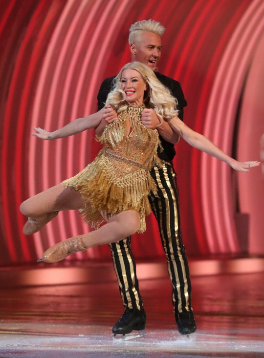 Denise Van Outen and Matt Evers on Dancing On Ice