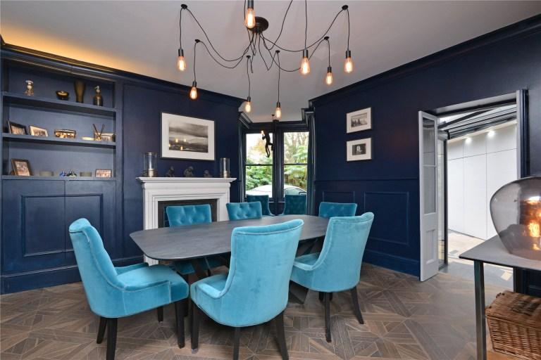 dining room in Hillside house