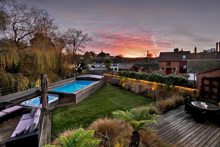 garden in hillside home