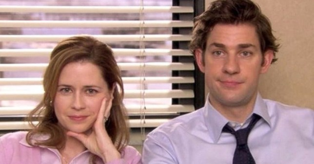 Pam Beesly and Jim Halpert in The Office