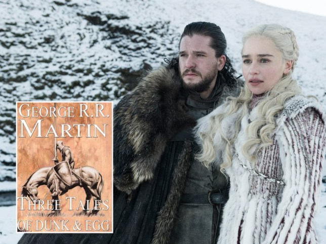 Kit Harington and Emilia Clarke ad Jon Snow and Daenerys Targaryen in Game Of Thrones and George RR Martin's Tales of Dunk and Egg
