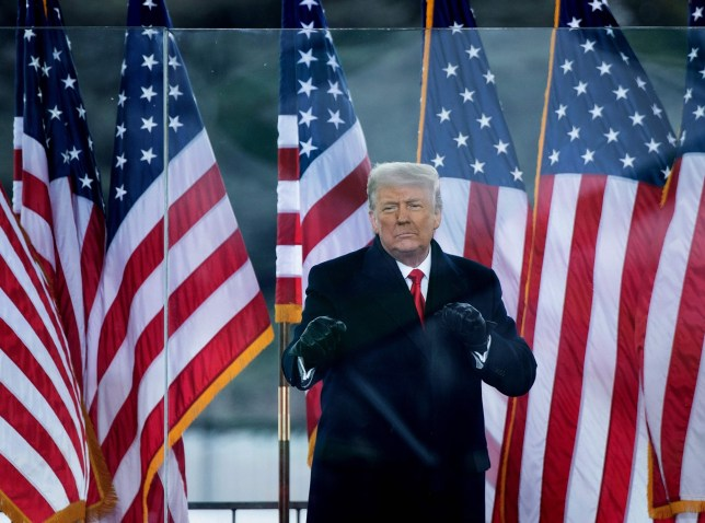 (FILES) In this file photo taken on January 06, 2021, US President Donald Trump greets supporters on The Ellipse near the White House on January 6, 2021, in Washington, DC. - Donald Trump will face an second impeachment trial in the Senate over the January 6, 2021, ransacking of the US Capitol after the impeachment article against the former president is sent to the chamber on January 25, 2021, its Democratic leader Chuck Schumer announced. (Photo by Brendan Smialowski / AFP) (Photo by BRENDAN SMIALOWSKI/AFP via Getty Images)