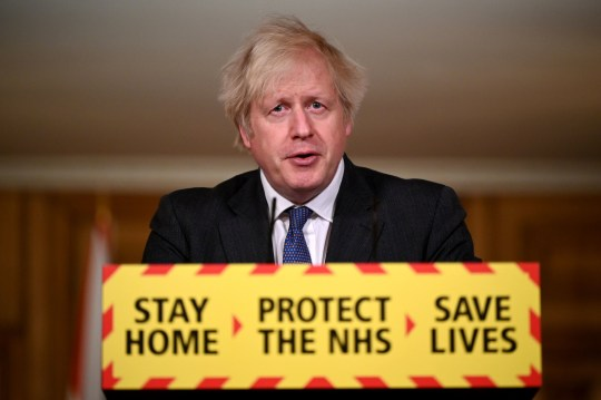 Prime Minister Boris Johnson during a media briefing in Downing Street, London, on coronavirus (COVID-19). Picture date: Friday January 22, 2021. PA Photo. See PA story HEALTH Coronavirus. Photo credit should read: Leon Neal/PA Wire
