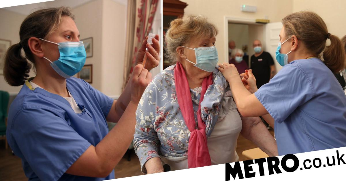 Dozens of care home residents died with Covid after first jab - metro