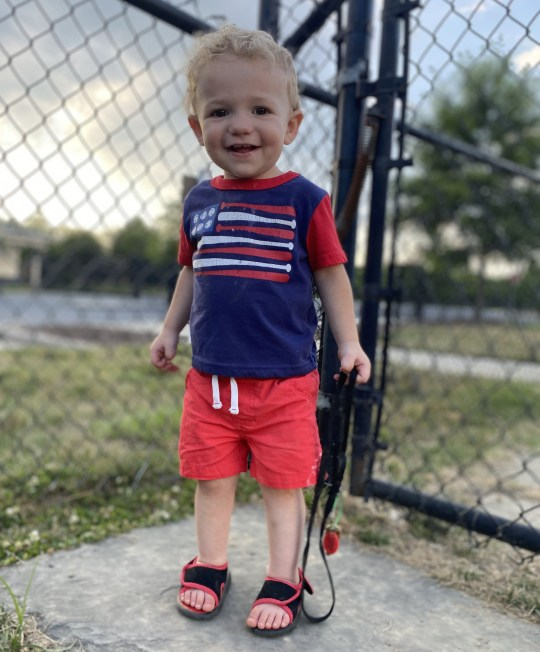 PIC FROM Kennedy News and Media (PICTURED: JOHNATHAN HUFF, 23 MONTHS, WHO TRAGICALLY DIED AFTER SWALLOWING A BATTERY FROM A REMOTE CONTROL) A toddler bled to death after swallowing the tiny BATTERY from a remote control that burned through his organs - as his paramedic parents battled to save his life and his brother watched on. Johnathan Huff, who was 23 months old, ingested a button battery that spent four days burning through his oesophagus, intestines and aorta causing catastrophic bleeding. The fire truck-loving tot, who was affectionately known as Nugget, died on December 20th just four days after eating the disposable battery without his parents noticing. DISCLAIMER: While Kennedy News and Media uses its best endeavours to establish the copyright and authenticity of all pictures supplied, it accepts no liability for any damage, loss or legal action caused by the use of images supplied and the publication of images is solely at your discretion. SEE KENNEDY NEWS COPY - 0161 697 4266
