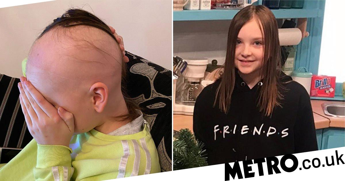 Girl, 12, in tears after losing half her hair to alopecia in less than a year - metro
