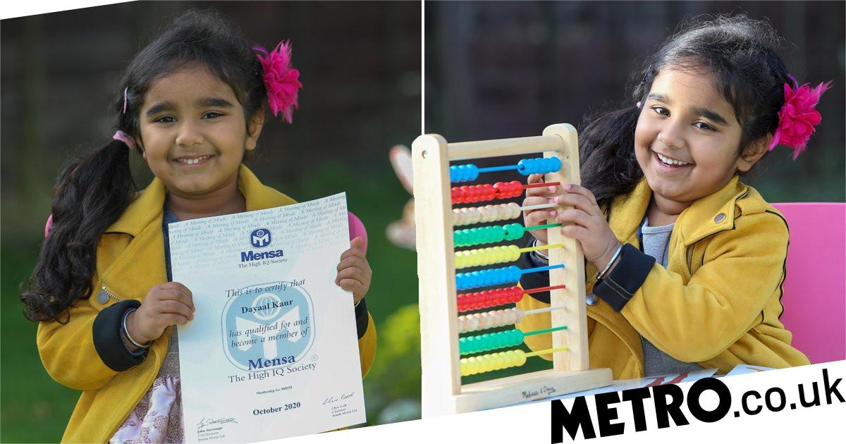 Girl with IQ just below Einstein's joins Mensa after learning alphabet at 14 months - metro