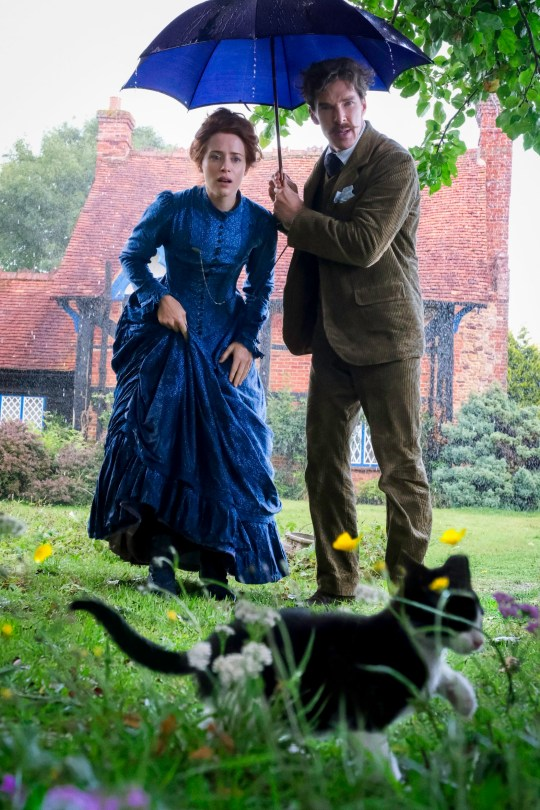 Undated handout photo issued by Studiocanal showing Benedict Cumberbatch as British artist Louis Wain, famous for his distinctive paintings of cats and Claire Foy, who plays his wife, Emily. PRESS ASSOCIATION Photo. Issue date: Tuesday August 27, 2019. See PA story SHOWBIZ Cumberbatch. Photo credit should read: Studiocanal/PA Wire NOTE TO EDITORS: This handout photo may only be used in for editorial reporting purposes for the contemporaneous illustration of events, things or the people in the image or facts mentioned in the caption. Reuse of the picture may require further permission from the copyright holder.
