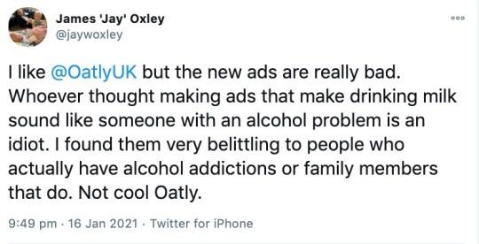 Oatly ad tweet